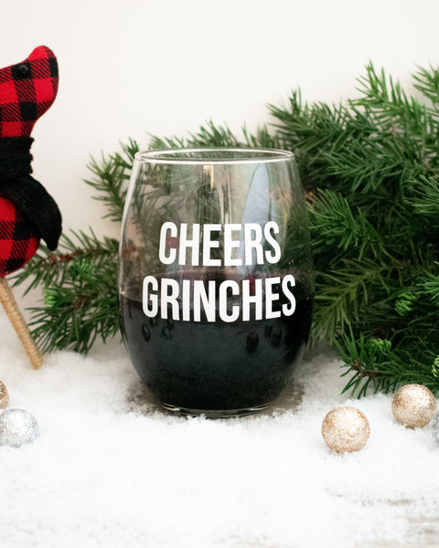 Cheers Grinches Stemless Wine Glass