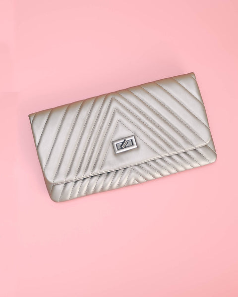 Lorell Clutch - Pewter