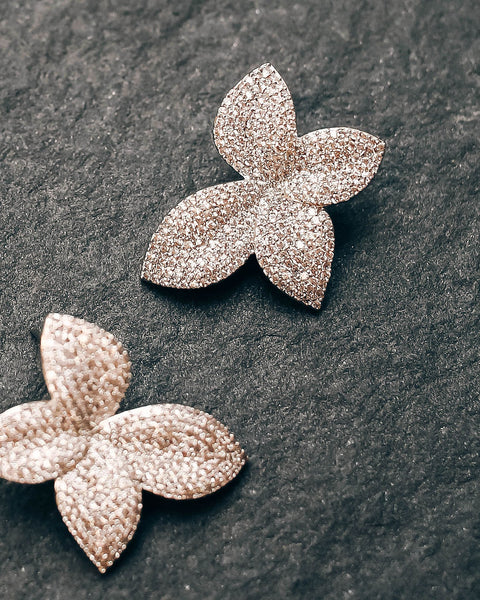 Olive + Piper - Primrose Pave Earrings
