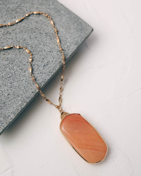 Artistic Flare Oval Pendant Necklace - Pink - FINAL SALE
