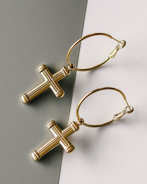 MARRIN COSTELLO - Deuce Cross Hoops