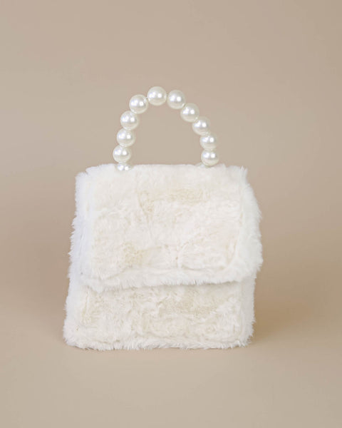 Kiki Plush Pearl Handbag - Ivory - FINAL SALE