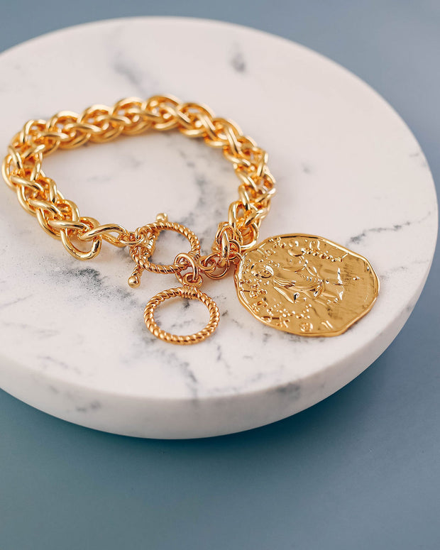 Helena Medallion Toggle Bracelet