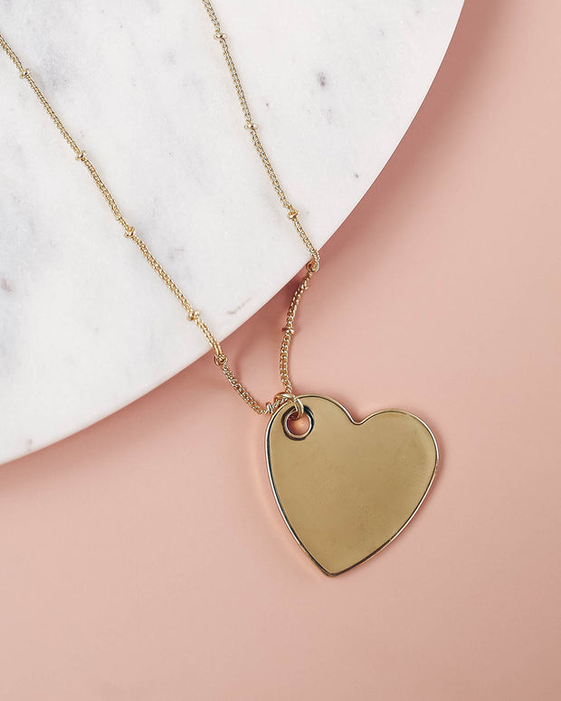 Neptune Heart Pendant Necklace