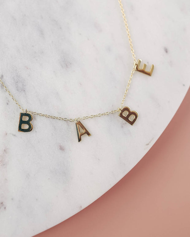Babe Gold Name Necklace