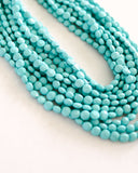 Carnevale Layered Statement Necklace - Turquoise
