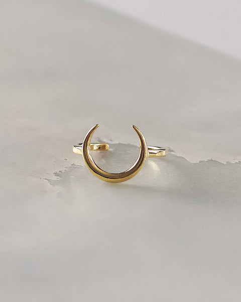 MEGHAN BO DESIGNS - Gold Moon Ring