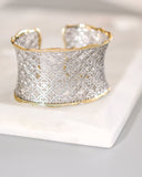 KENDRA SCOTT - Candice Cuff Bracelet - Silver Filigree Mix