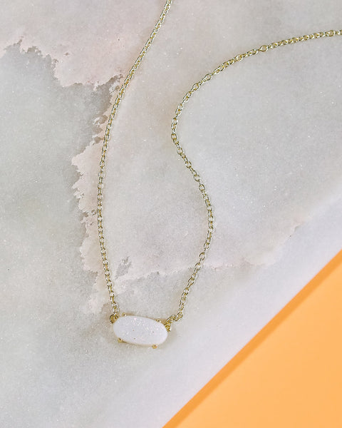 KENDRA SCOTT - Ever Gold Pendant Necklace - Iridescent Drusy