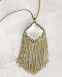 KENDRA SCOTT - Kingston Gold Long Pendant Necklace - Ivory Mother Of Pearl