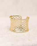 KENDRA SCOTT - Candice Cuff Bracelet - Gold Filigree Mix