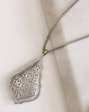 KENDRA SCOTT - Aiden Silver Long Pendant Necklace - Silver Filigree