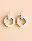 Knock On Wood Circular Earrings - Light Natural
