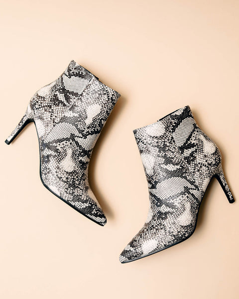 Willa Python Heeled Bootie - FINAL SALE