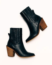 Mankind Faux Leather Heeled Bootie