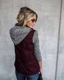 Meyer Cotton Contrast Jacket - Wine