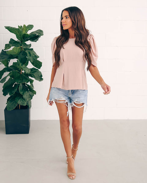 At The Ballet Puff Sleeve Blouse