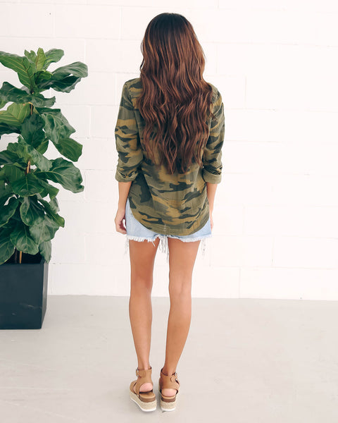 Armistice Camo Cotton Top