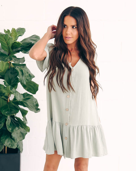 Neopolitan Babydoll Dress - Sage