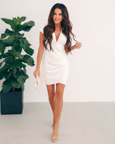 8a8e6efc774 See You Again Bodycon Dress - White