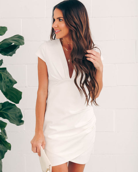 See You Again Bodycon Dress - White - FINAL SALE