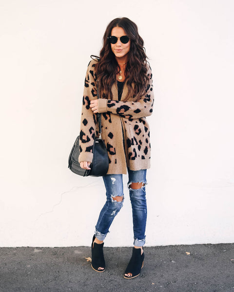 Imogen Pocketed Leopard Cardigan