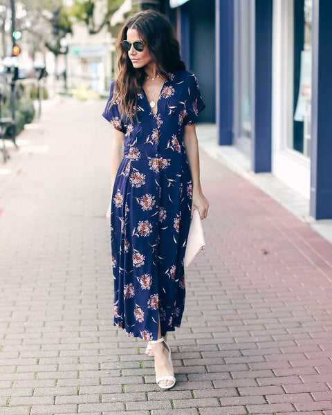 Embrace Floral Button Down Maxi Dress