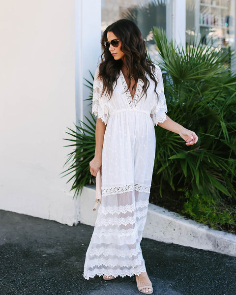 Vow To You Lace Maxi Dress