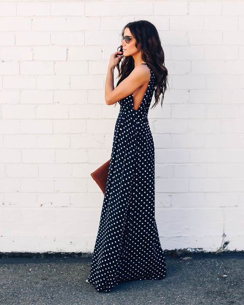 Mariah Polka Dot Maxi Dress