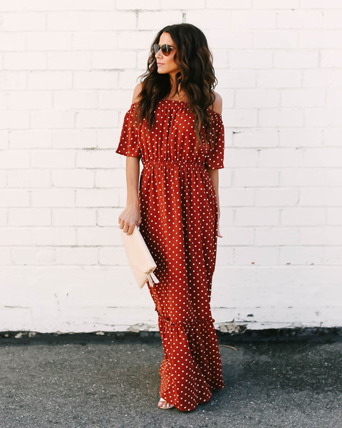 Rosalyn Off The Shoulder Maxi Dress - FINAL SALE
