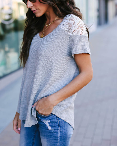 Secrets Thermal + Lace Contrast Top