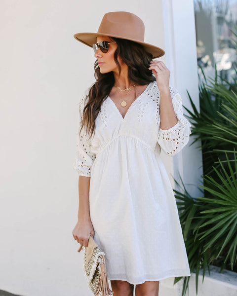 Hometown Honey Cotton Eyelet Dress