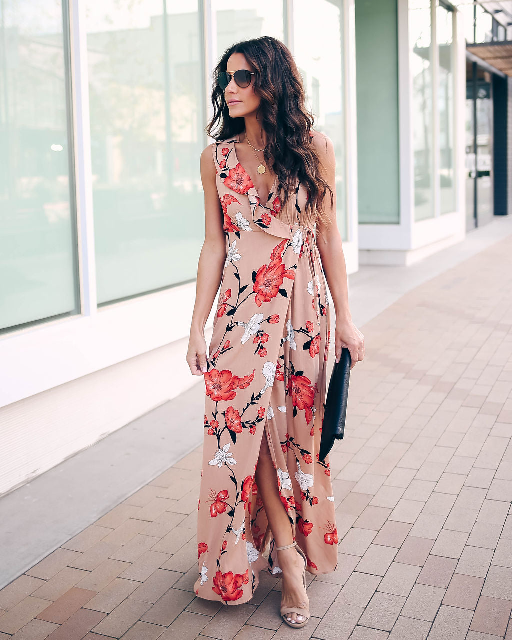 d483b749dd Detail Product. FILTER ← Home - 50% SALE - Cherry Blossom Wrap Maxi Dress  ...