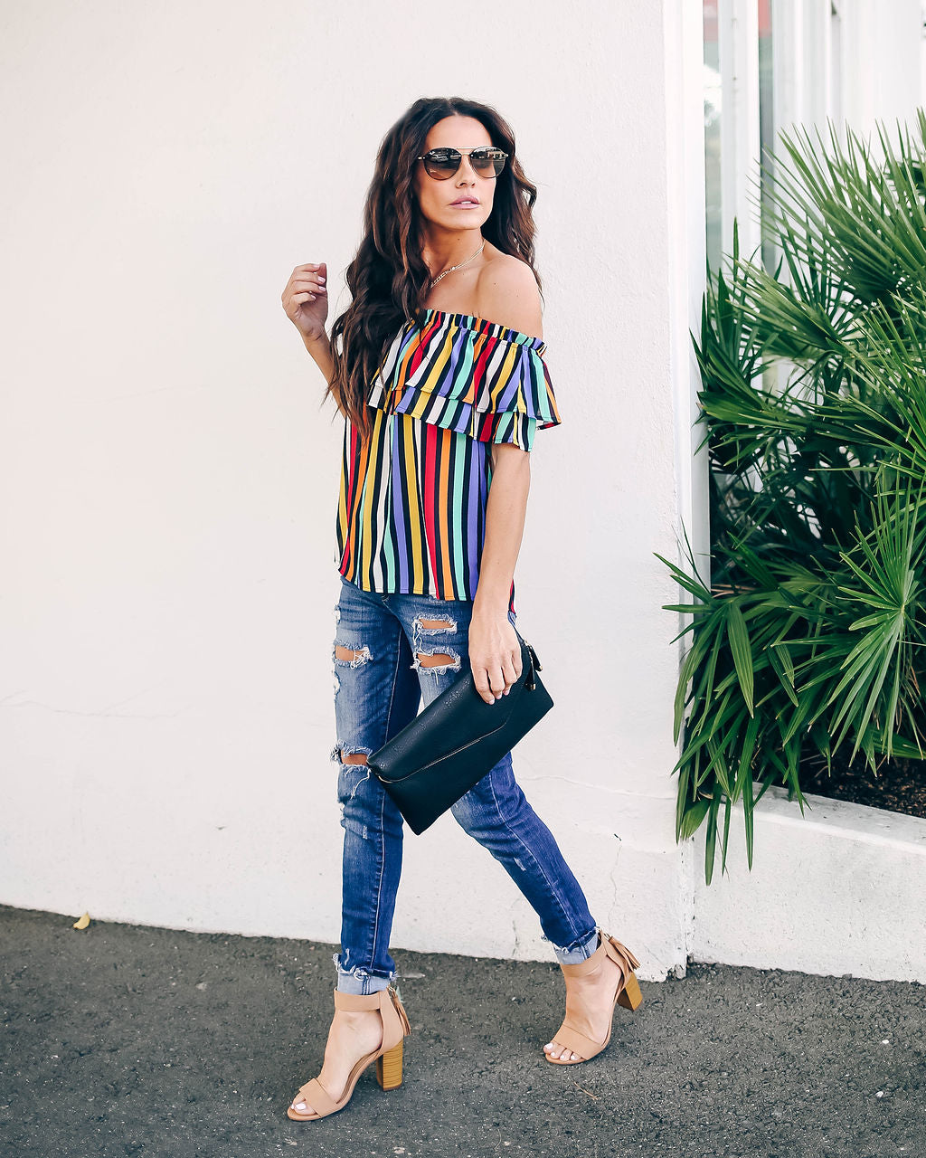 3a31965f26cabe Rainbow Chaser Off The Shoulder Top – VICI