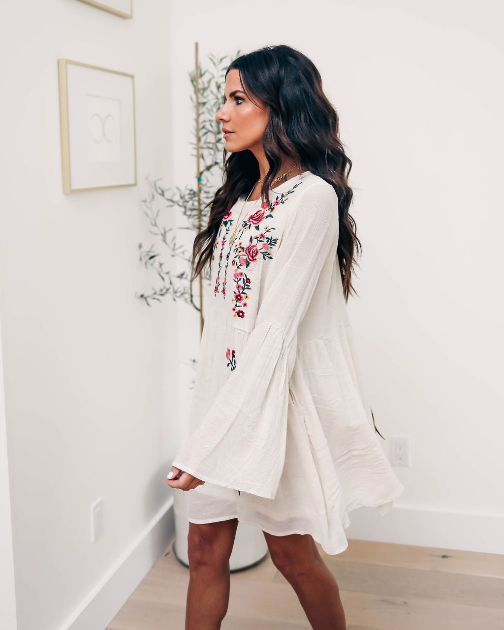 5eb6359075 Fiona Embroidered Babydoll Dress – VICI