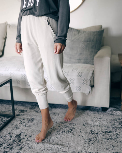 Glenwood Drawstring Pocketed Joggers - Clay - FINAL SALE