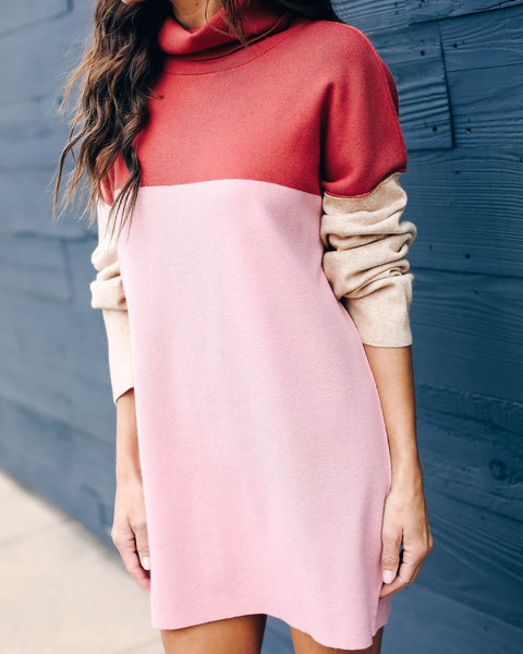 Joanna Colorblock Sweater Dress - FINAL SALE