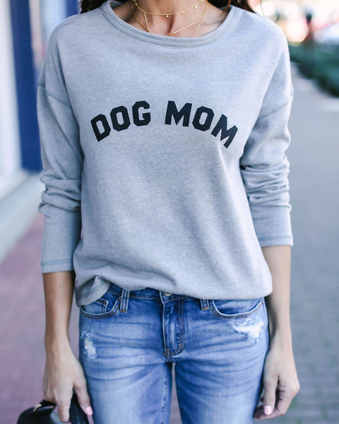 Dog Mom Cotton Blend Pullover