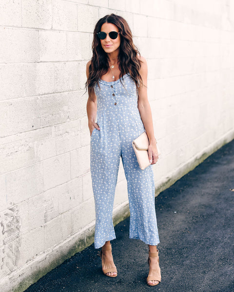 Carolina Floral Pocketed Jumpsuit