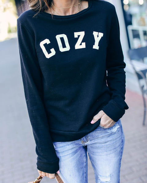 Cozy Cotton Pullover - Black