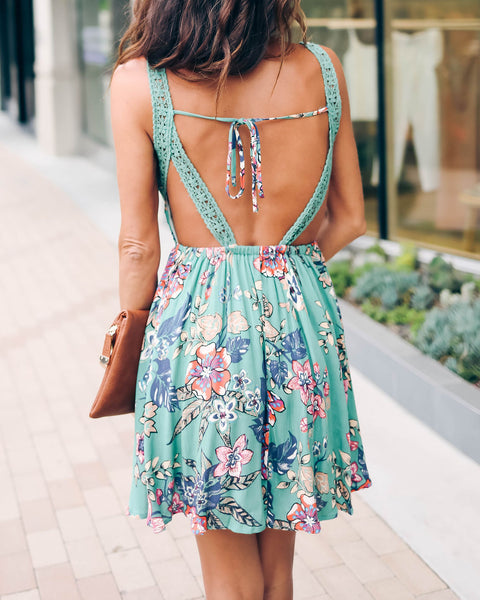 Envy Me Floral Lace Open Back Dress