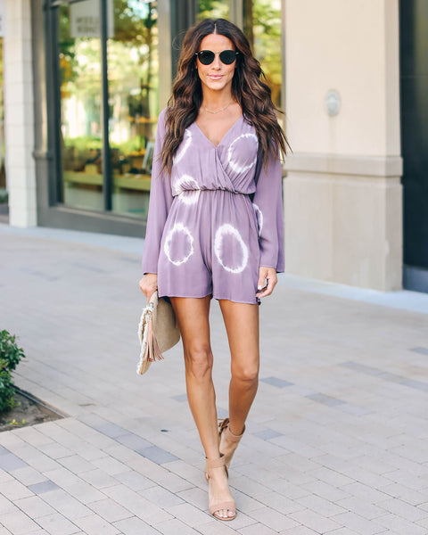 Another Galaxy Tie Dye Romper - Plum