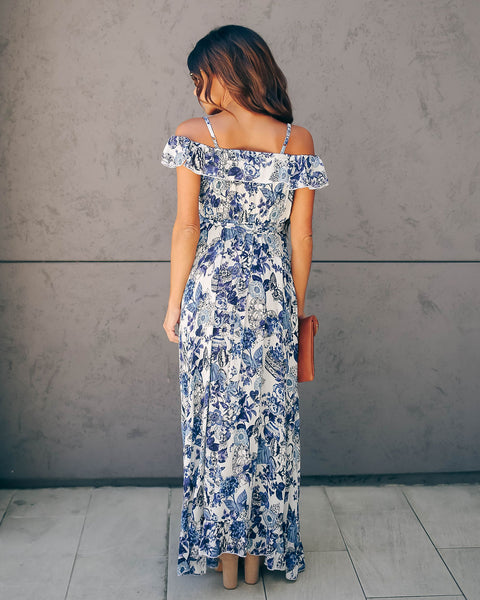 Butterfly Effect Floral Ruffle High Low Maxi Dress - FINAL SALE