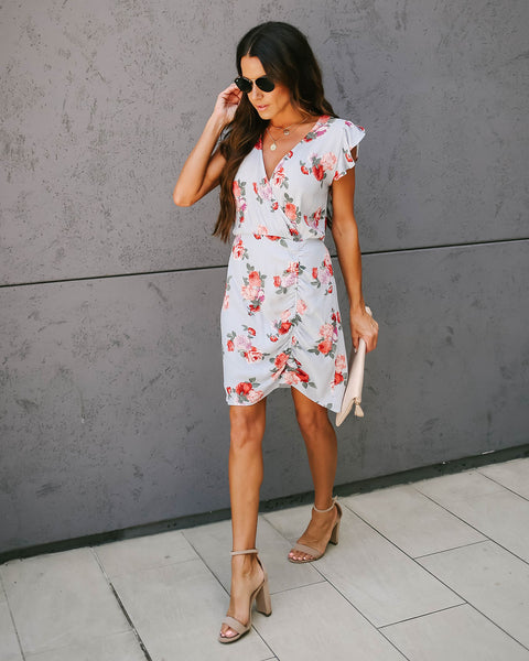 Friend Zone Floral Ruched Dress