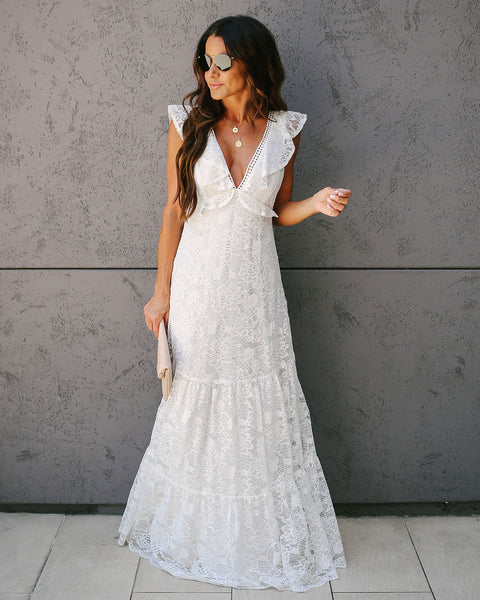 45db80bf6a132 All My Love Lace Tiered Maxi Dress