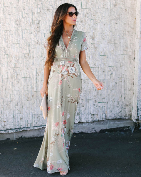 Natural Attraction Floral Maxi Dress
