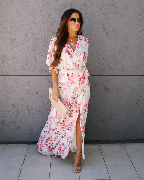 Parfait Floral Kimono Wrap Maxi Dress - FINAL SALE