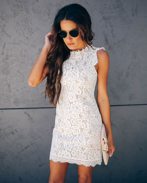 e8be58eaa6a Graceland Floral Lace Dress - White
