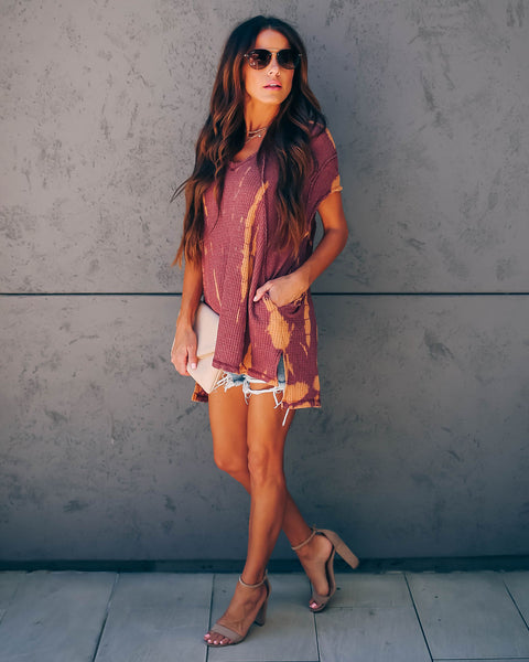 The Fillmore Pocketed Tie Dye Thermal Tunic
