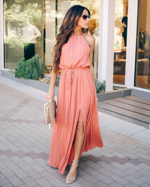 High Hopes Maxi Dress - Rust